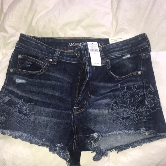 American Eagle High Waisted shorties 12 NWT